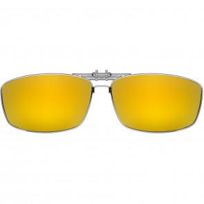Polarizované krytie okuliarov kov ŽLTÁ