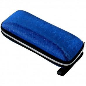 Etui na okulary tekstylne niebieskie UTO3