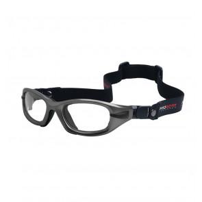 Sports glasses PROGEAR Eyeguard L, shiny metallic grey