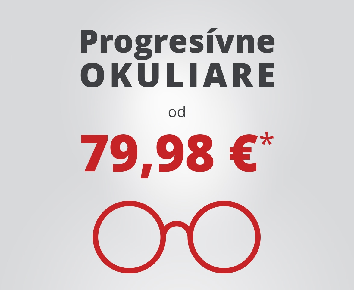 Progresívne okuliare od 79,98 €